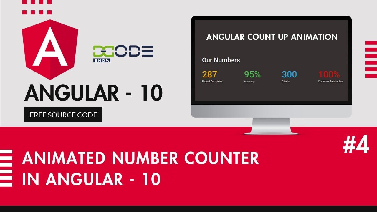 Animated Number Counter In Angular 10   Increment Counter In Typescript