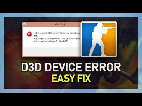 CS:GO Failed to Create D3D Device FIX! - Fast & Easy 2018