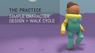 Simple Character Design and IK Walk Cycle in C4D  // The Practice 65 thumbnail