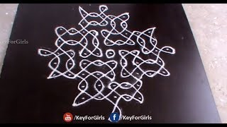 Easy Melikala Muggulu | Melikala Muggulu With Dots | New Melika Muggulu | Key For Girls
