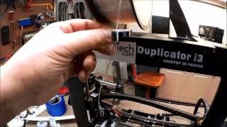 wanhao duplicator i3 3d printer filament guide lock