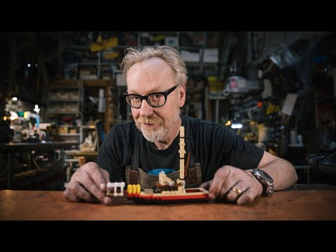 Adam Savage's Live Builds: LEGO Orca Fishing Boat (from Jaws!)