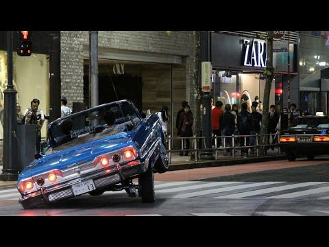 LOWRIDERS HITTIN SWITCHES AND HOPPIN IN JAPAN