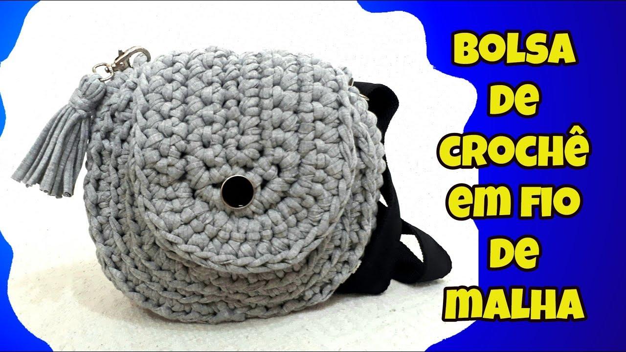 61c5d0c44 BOLSA BOHO CHIC CIRCULAR DE FIO DE MALHA HOW TO MAKE EASY BAG - YouTube