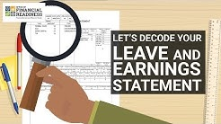 Military Touchpoint Series: Decode Your Leave and Earnings Statement