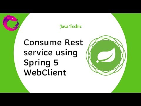 Consume Rest service using Spring 5 WebClient (Reactive programming