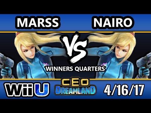 CEO Dreamland 2017 Smash 4 - NRG   Nairo (ZSS) Vs. DNL   Marss (ZSS) SSB4 Winners Quarters