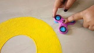 Easy Rangoli Using Fidget spinner II POO...