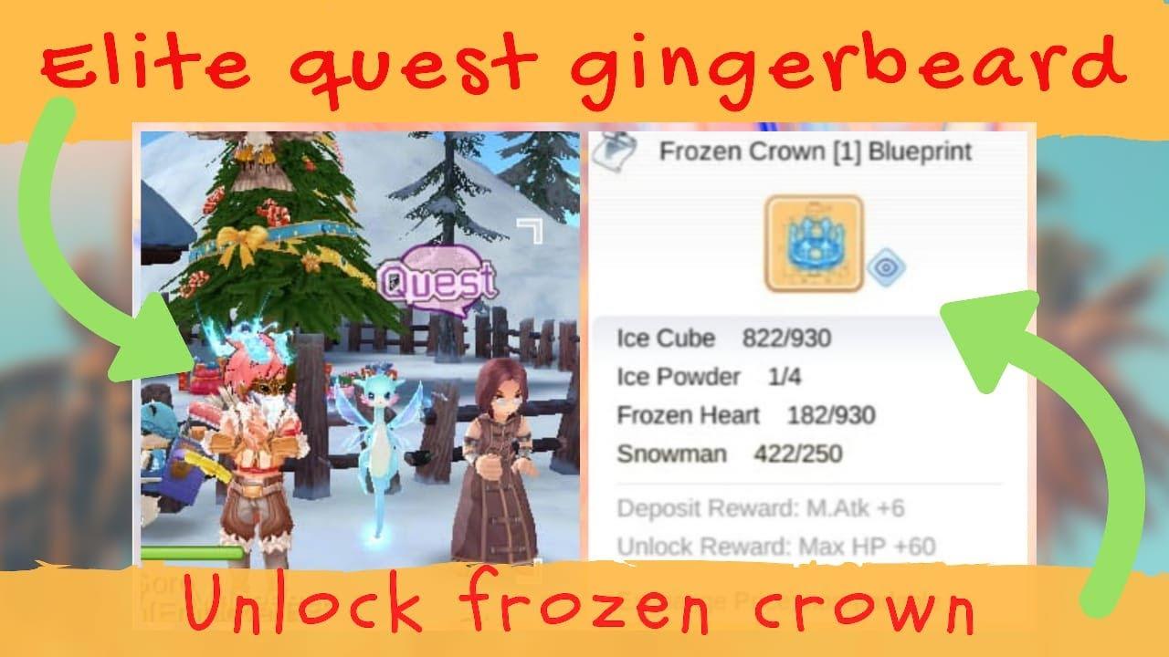 Unlock Frozen Crown Blueprint Elite Quest Gingerbeard City Blackpeter Answer Ragnarok Mobile Youtube