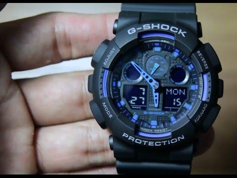 983350ec97b8 Casio G-shock GA-100-1A2 - YouTube