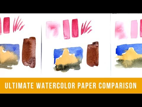 The Ultimate Watercolor Paper Comparison | Comparing 24 Types of Watercolor Paper (Part 1)