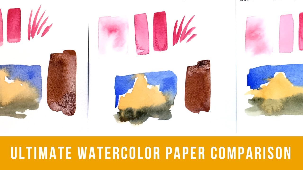 the ultimate watercolor paper comparison comparing 24 types of