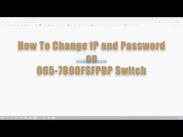 How to Change IP and Password on 065-7890FSFPDP Switch