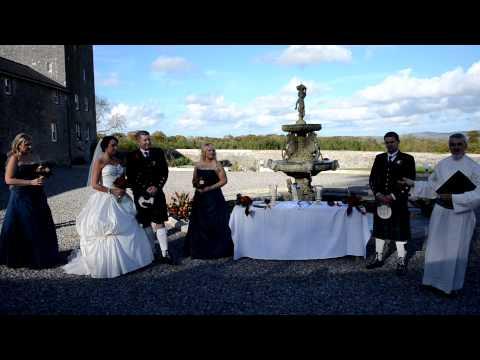 Skip and Kayla McCormic, Wedding, Springfield Castle, Ireland
