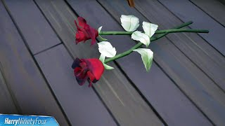 Find a Rose at Steel Farm or The Orchard Location - Fortnite