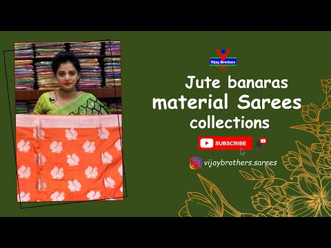 Organza Printed Saree Collections | Vijay Brothers Sarees Showroom | 70933 70882, 84640 27097 from YouTube · Duration:  2 minutes 2 seconds