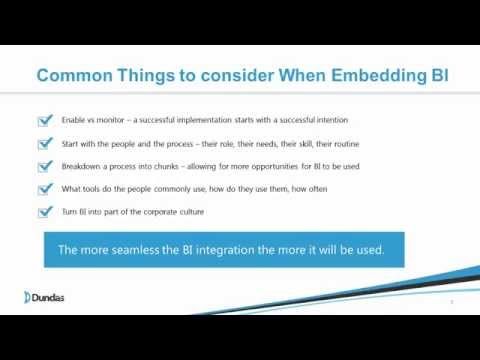 The Fundamentals of Embedded BI Webinar