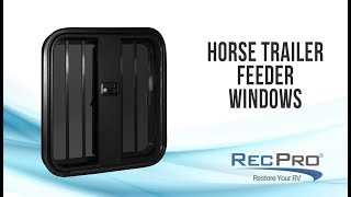 Horse Trailer Drop Down Feeder WIndows with Rounded Corners