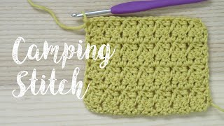 Today's stitch combination I have called the Camping Stitch but it is really just a mixture of double crochet stitches and double crocheting together to create this ...