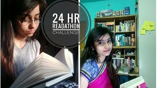 I READ FOR 24Hrs ?! The 24-Hour-Readathon Challenge | Reading Vlog