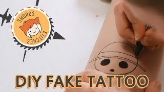 FAKE PIRATE TATTOOS [Swords & Stitches]