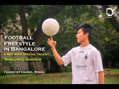 Football Freestyle in Bangalore - A boy with special talent