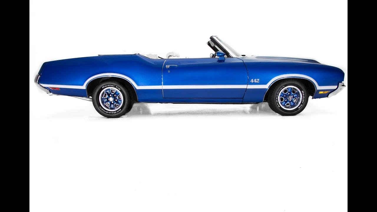 Salon Convertible 1969 Oldsmobile 442 Convertible For Sale Blue