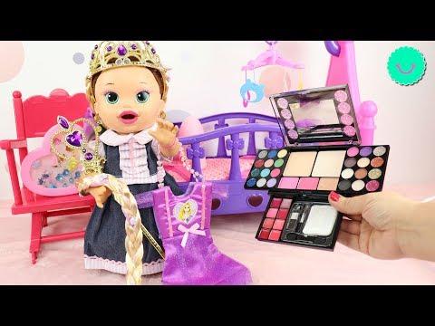 Sara se disfraza de Rapunzel - Make Up Kids - Muñecas Baby Alive en BB Juguetes
