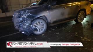 Ճանապարհի մերկասառույցի պատճառով Երևանում բախվել են 2 Lexus, Mercedes ը և Volkswagen ը