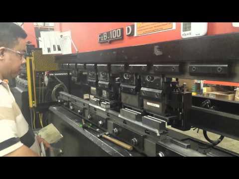 Safety Light Curtain on Amada Press Brake - YouTube