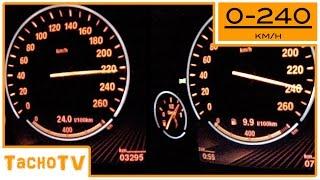 BMW X5 (F15) 30d vs 40d acceleration 0-240km/h 1080p