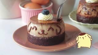 Cách làm bánh Flan Socola Gato hình bé Pompomburin - Chocolate Gato Flan Caramel