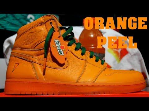 san francisco 035e6 75e95 Gatorade Air Jordan 1  Orange Peel  Review + On Feet