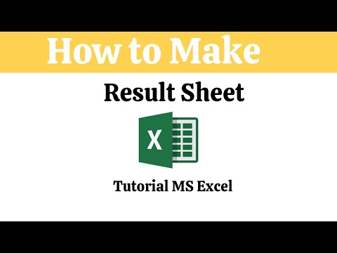 How To Make A Result Sheet In Excel | Tutorial MS Excel