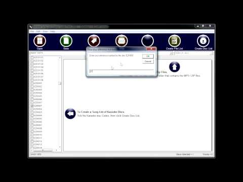 Karaoke Song List Creator - How to Use Your Own Disc Codes