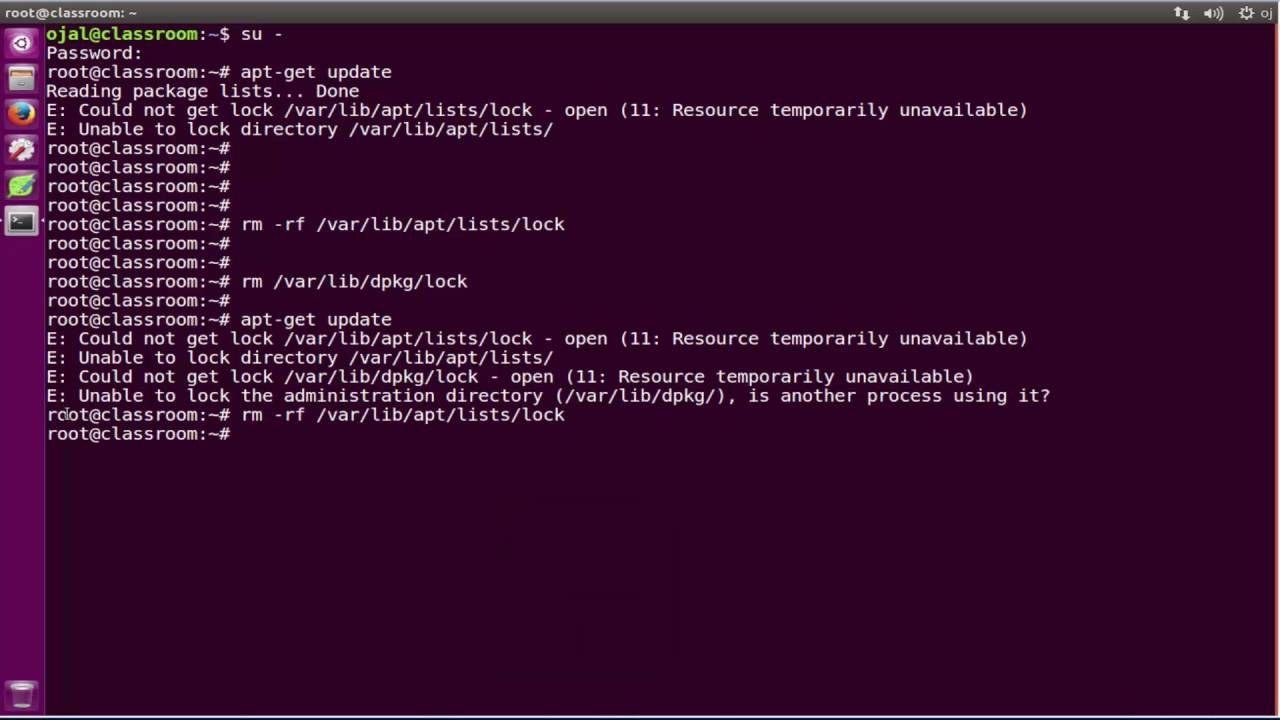 Fixing E: Could not get lock /var/lib/dpkg/lock