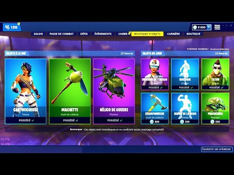 BOUTIQUE FORTNITE du 10 Mars 2019 ! ITEM SHOP March 10 2019 !