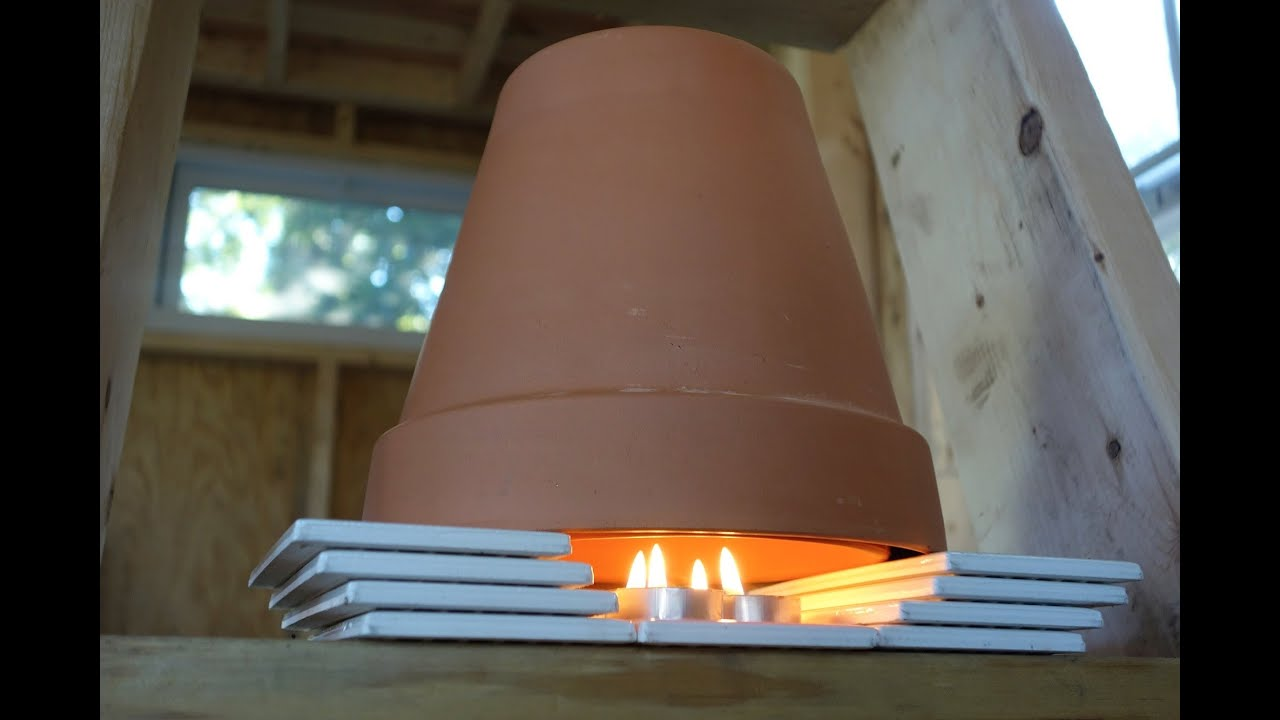 A Diy Tiny House Heater Youtube