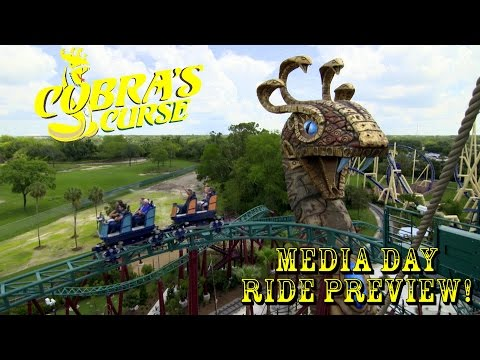 Busch Gardens Tampa Cobra's Curse Construction Update 6.16.16 MEDIA DAY!!!