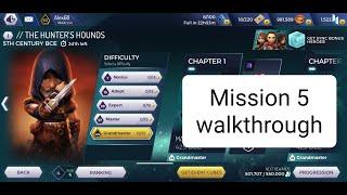 The Hunter's Hound event Mission 5 Grandmaster level. Assassin's Creed Rebellion Helix Rift Event