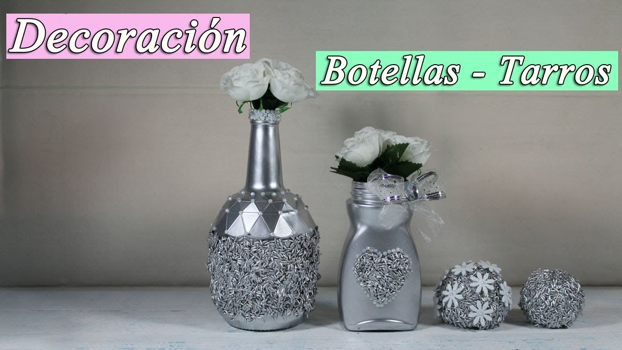 como decorar botellas de cristal youtube On decorar botellas de cristal