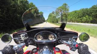 Indian Roadmaster test ride at 2015 Americade demo event.