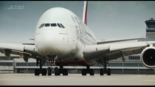 Airbus A380 společnosti Emirates na Letišti Václava Havla Praha thumbnail