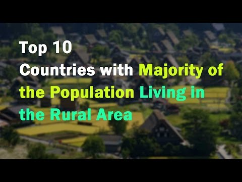 Top 10 Countries with Majority of the Population Living in the Rural Area