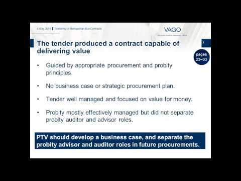 Tendering of Metropolitan Bus Contracts | Victorian Auditor