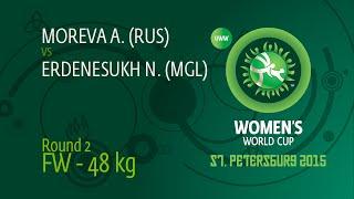 48 kg - Alina MOREVA (RUS) df. Narangerel ERDENESUKH (MGL), 5-1