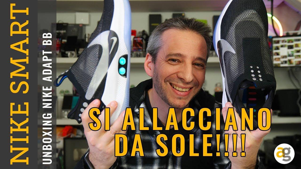on sale 91d99 5a608 SCARPE SMART che SI ALLACCIANO DA SOLE! Unboxing NIKE ADAPT BB