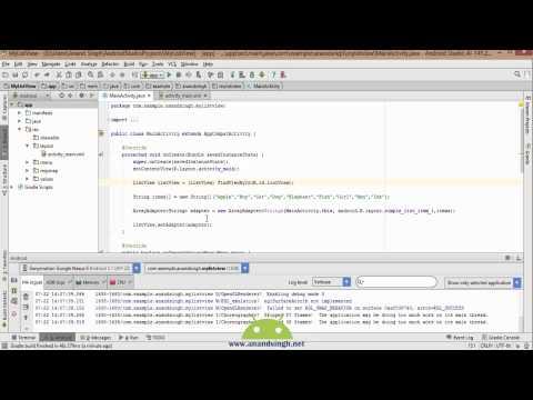 Android Studio Tutorial in Hindi (Simple ListView)