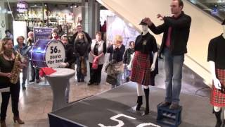 56th District Pipe Band, Flashmob im Löhr-Center Koblenz