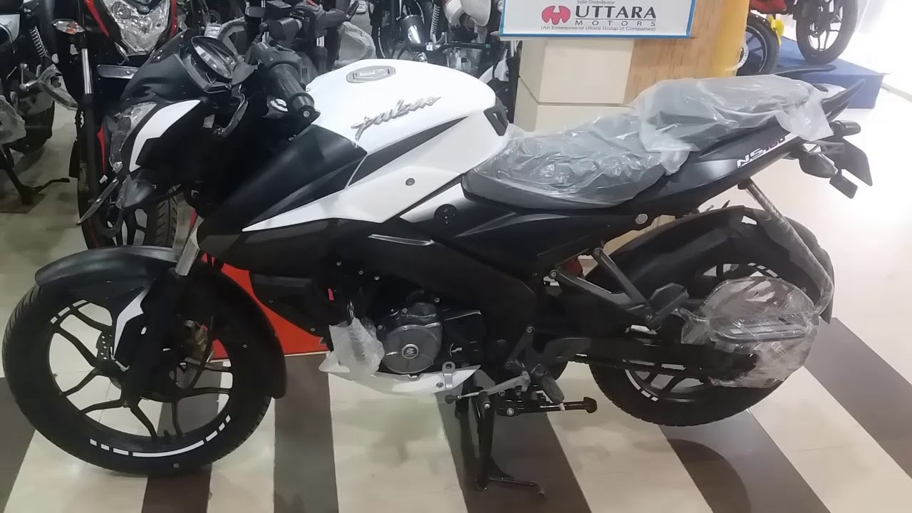 Bajaj Pulsar Ns160 White Colour Bs 4 Model 2018 Youtube